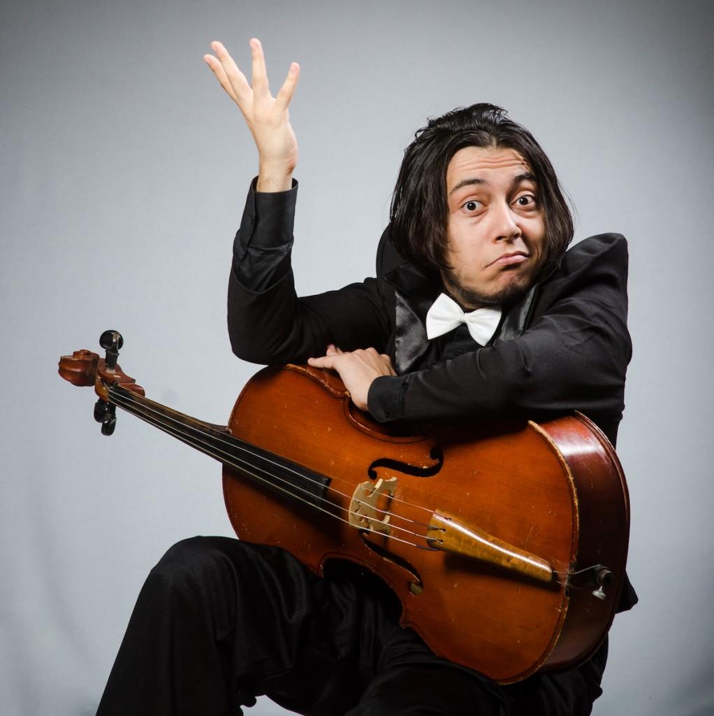 Shrugging Cellist